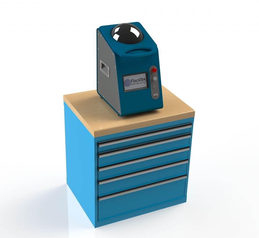 Small SpeedMixer on stand